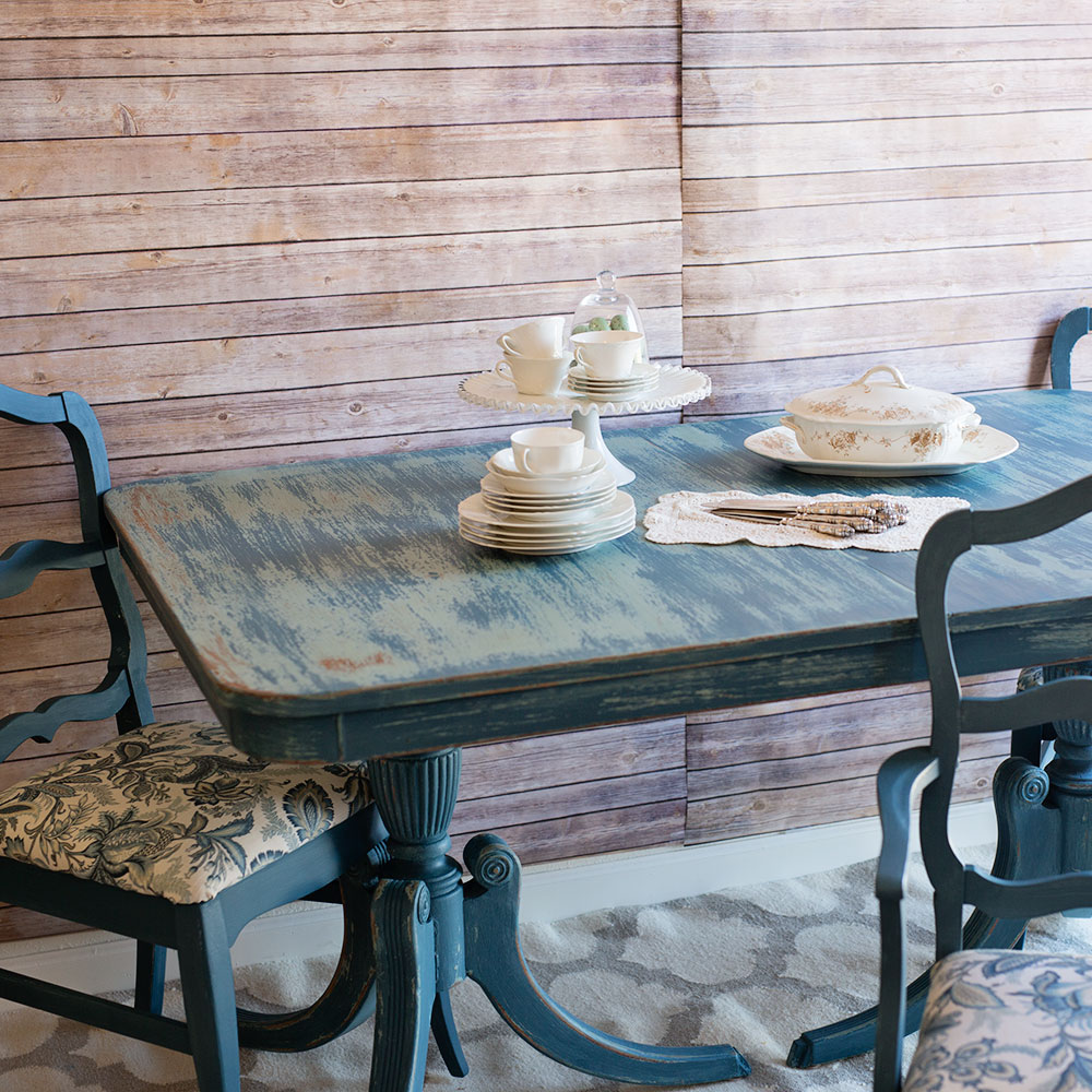 Blue Shabby Chic Dining Set