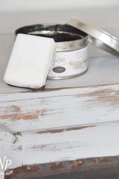 Vintage Paint Wax Can